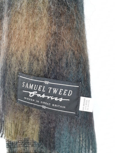 'Samuel Tweed' label on a green scarf